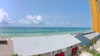 all new gulf front townhome in panama city beach aerial flyover