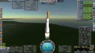 Kerbal Space Program RO Sandbox - 1200-ish tons to LEO, with Framerate