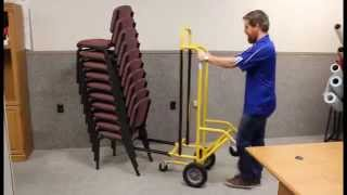 10 Chair Stackable Chair Cart by American Cart