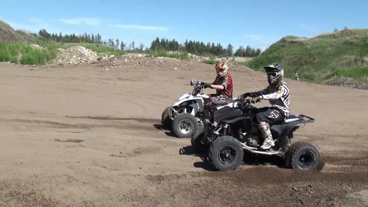 honda trx 450 vs yamaha yfz 450 youtube. Black Bedroom Furniture Sets. Home Design Ideas