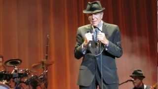Leonard Cohen - So Long Marianne, live at Wembley Arena, London 2012