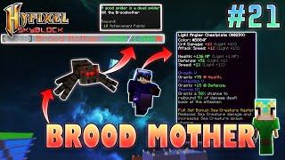 BroodMother Boss, Flower Minion & Angler GodSet   Hypixel Skyblock - Minecraft EP. 21