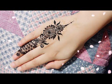 DIY Easy Mehendi Design for Fingers Tutorial #8- Henna Temporary Tattoo!