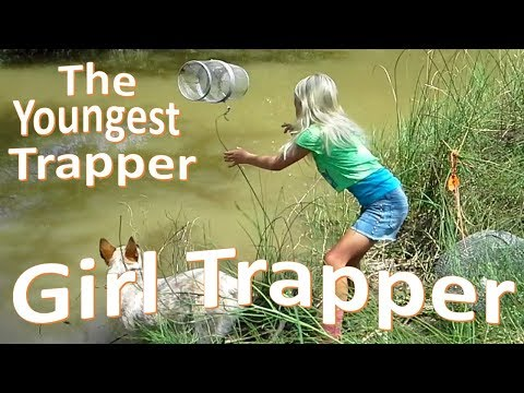 Girl Crawdad Trapping -Childhood Done Right-