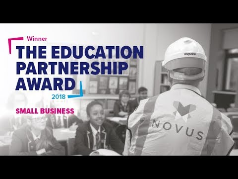 Novus Property Solutions win the Education Partnership Award,  small company