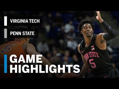 Highlights: Virginia Tech at Penn State | Big Ten Basketball | ACC/Big Ten Challenge