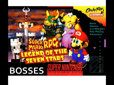 SUPER MARIO RPG - All Boss Battles Playthrough