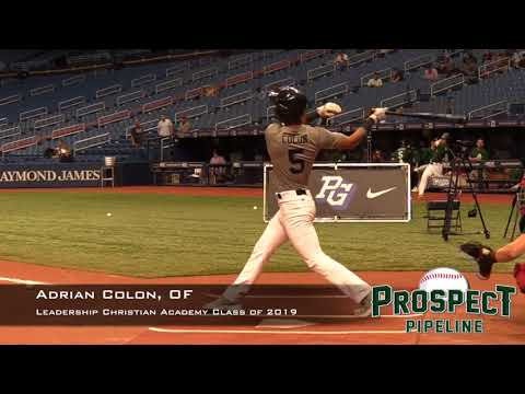 Adrian Colon  Prospect Video, OF, Leadership Christian Academy Class of 2019