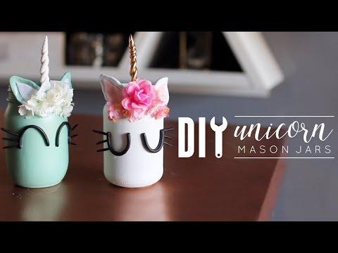 DIY Unicorn Room Decor | Mason Jars