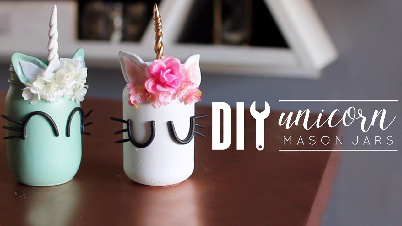 Diy Unicorn Room Decor Mason Jars Youtube
