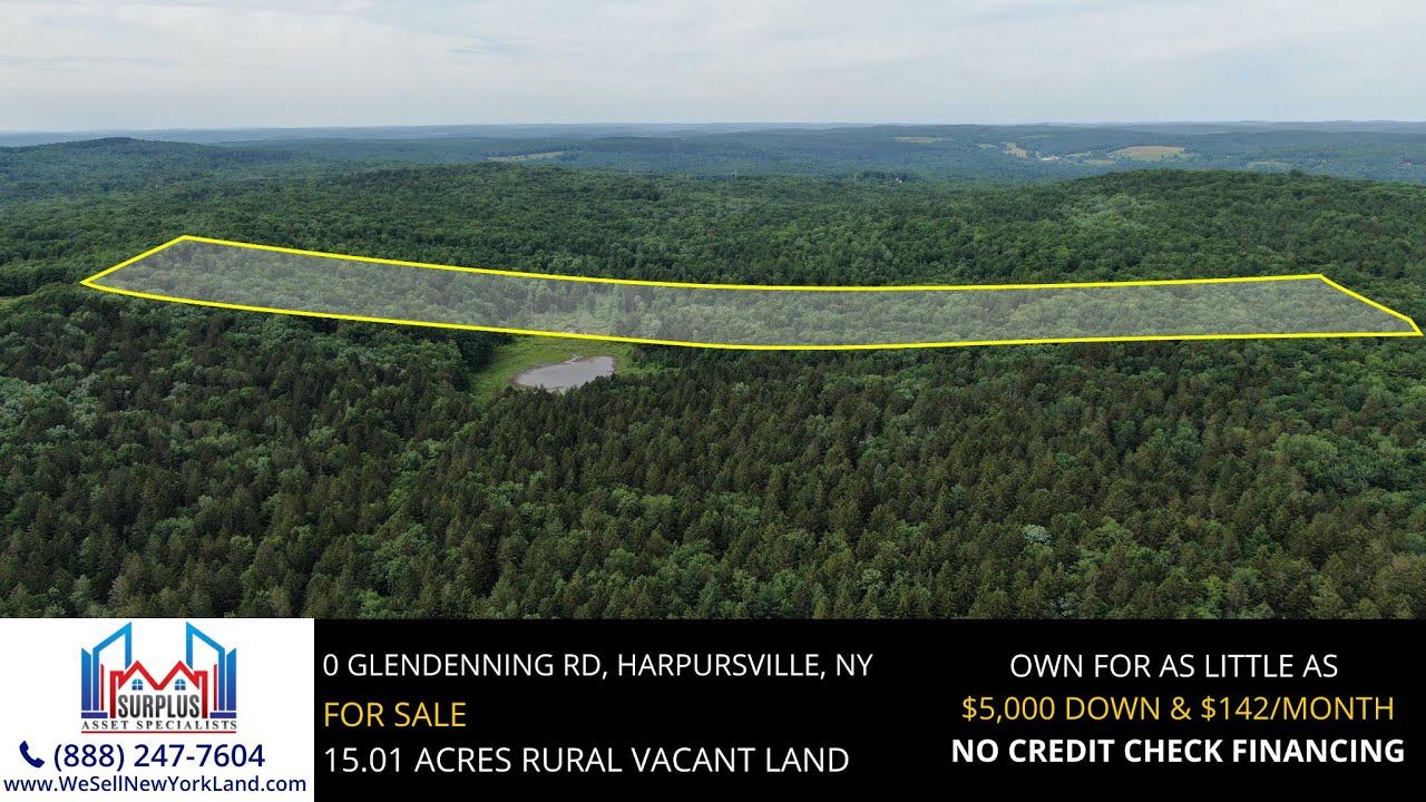0 Glendenning Rd, Harpursville, New York - New York Land For Sale  - www.WeSellNewYorkLand.com