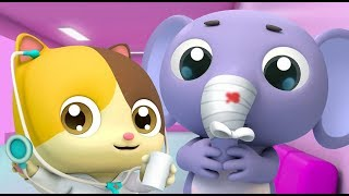 Kitten Doctor in Hospital | Doctor Cartoon | Kids Cartoon | Nursery Rhymes | Baby Songs | BabyBus