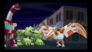 Transformers: Rescue Bots -- Dinobots VS Humungado!