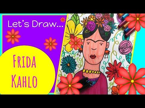 how-to-draw-frida-kahlo