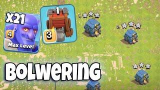 Max Bowler Strategy TH12 | Level 4 Bowler & Siege Machine Army 3 Star TH12 War | Clash Of Clans War