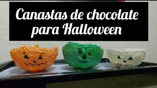 CANASTAS DE CHOCOLATE PARA HALLOWEEN