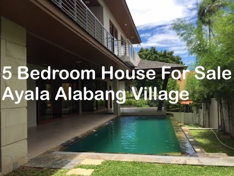 5 Bedroom House for Sale P115 Million Ayala Alabang Village Muntinlupa by Manila Luxury Real Estate
