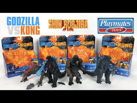 Playmates: Godzilla Vs Kong *6-Inch Figures* | Full Set Review