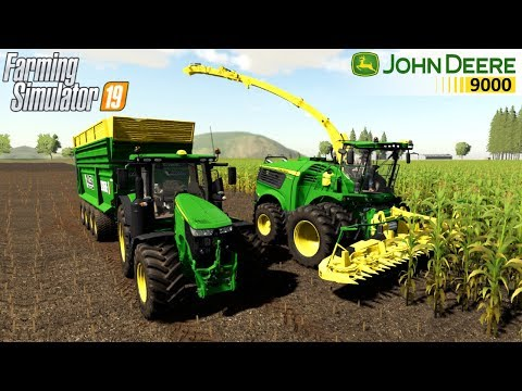 Farming Simulator 19 - JOHN DEERE 9000 US FORAGE HARVESTOR Together With A Tractor