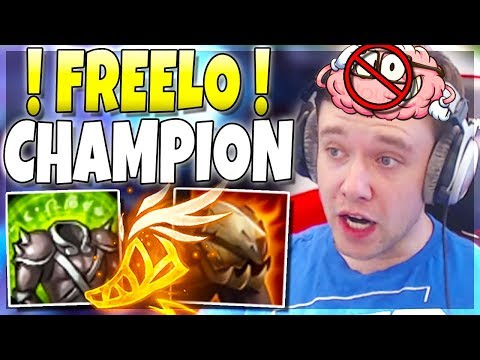 This Champion = Brain OFF, Get FREELO!!! (Overbuffed) - League of Legends