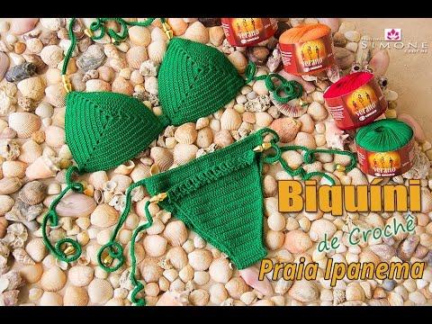 63ca8c44d70e2a Biquíni de Crochê Praia de Ipanema - Tamanho M - Professora Simone ...
