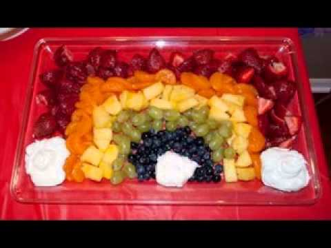 Baby shower fruit decorating ideas youtube for Baby tray decoration