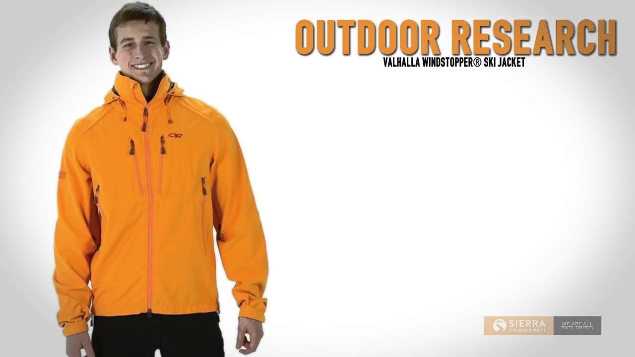 559e02c2eea Outdoor Research Valhalla Windstopper® Ski Jacket (For Men) - YouTube