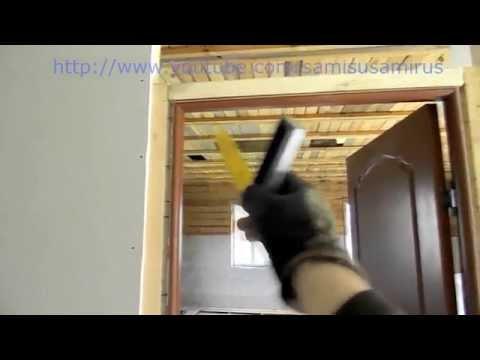 Как установить дверь- нестандартный способ фиксации коробки