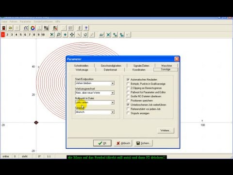 ConstruCAM 3D CAD CAM Software / Ersteinrichtung zu WinPC NC / CNC ...
