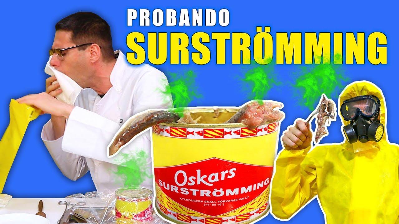PROBANDO SURSTRÖMMING La Comida Que Peor Huele del Mundo | Surströmming Challenge