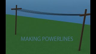 [Roblox Studio] How to make a power line fast and easy.