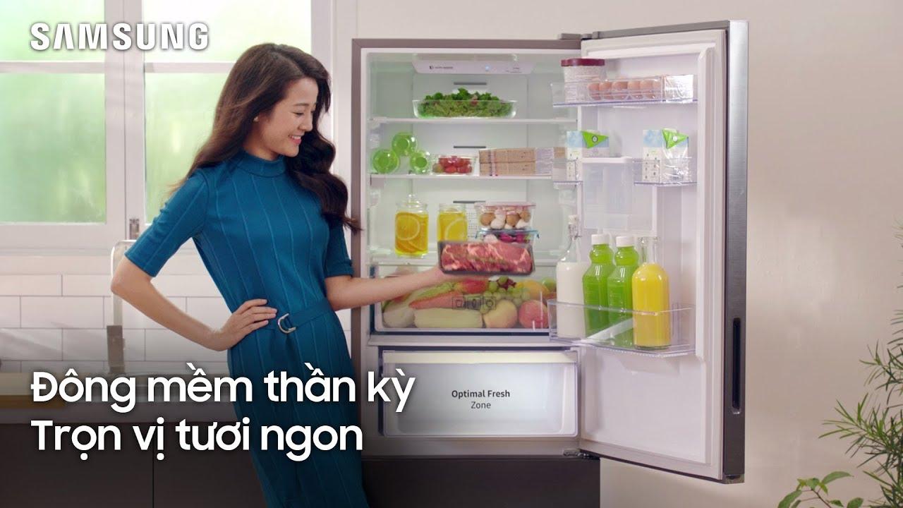 Tủ Lạnh Samsung Mới với Ngăn Đông Mềm thần kỳ giữ trọn vị tươi ngon