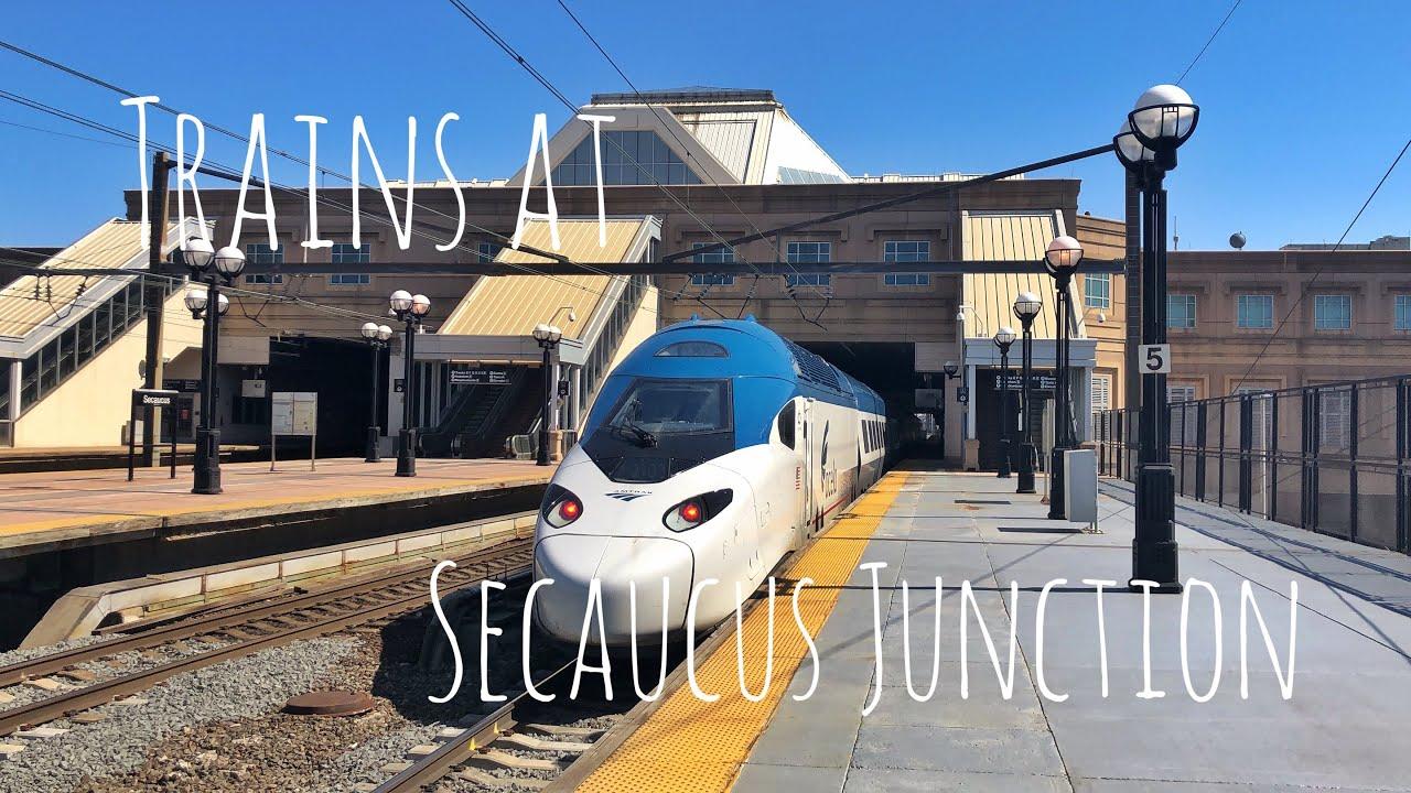 Trains at Secaucus Junction - Upper Level 4/5/21
