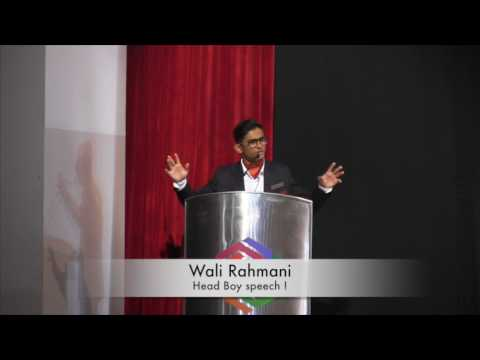 Motivational Head boy speech by Wali Rahmani