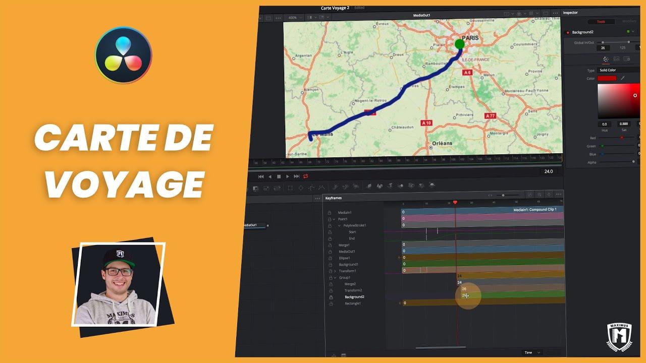 créer un itinéraire animé sur une carte TUTO] Comment animer un trajet sur une carte avec DaVinci Resolve