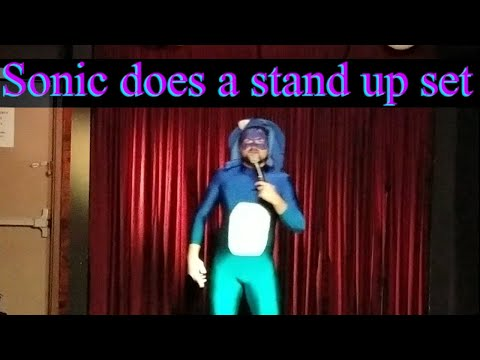 Sonic the Hedgehog Does a Stand Up Comedy Set on Halloween @ Zissimos Bar