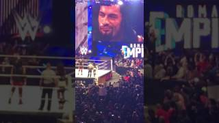 Aj Styles and Roman Reigns entrance at wwe payback 2016