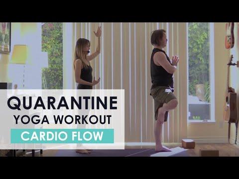 quarantine yoga workout  cardio yoga flow yoga at home