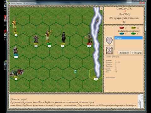 Демонстрация магии в бою в онлайн игре по героям.