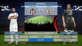 Besiktas JK vs Paok FC, BJK Vodafone Park, PES 2016, PRO EVOLUTION SOCCER 2016, Konami, PC GAMEPLAY
