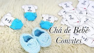Organizando Chá de Bebê - Convites e Convidados