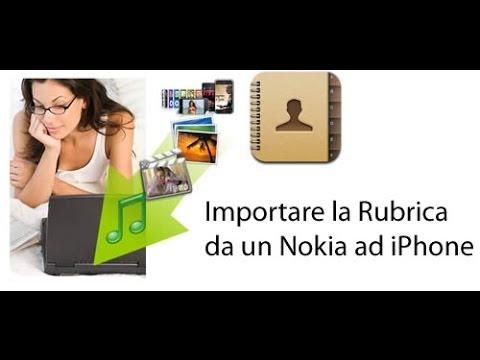 RUBRICA DA CELLULARE NOKIA SCARICARE