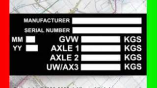 BLANK VIN CHASSIS PLATES FOR SALE REPLACEMENT VEHICLE ID TAG