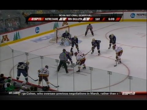 2011 NCAA Frozen Four Minnesota Duluth vs Notre Dame 4 7 11