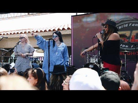 Billie Eilish Stops by the KROQ Coachella House