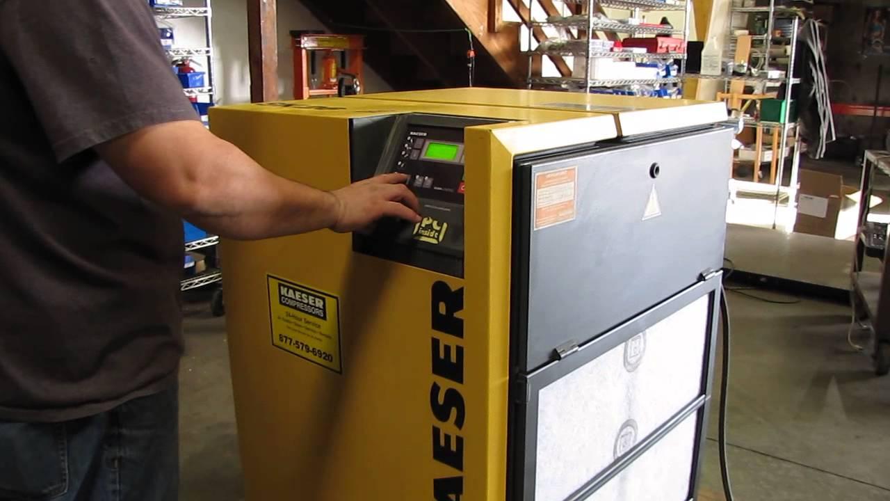 2002 kaeser sk26 rotary screw air compressor 20 hp 230 460v 3 phase rh youtube com Kaeser Compressor Manual kaeser sk 26 manual