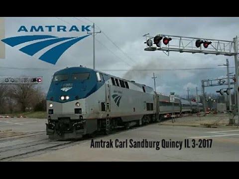Amtrak 382, The Carl Sandburg at Quincy, IL 3-25-17