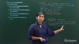 Quipper Video -  Main Idea of The Text - Persiapan UN Bahasa Inggris SMP