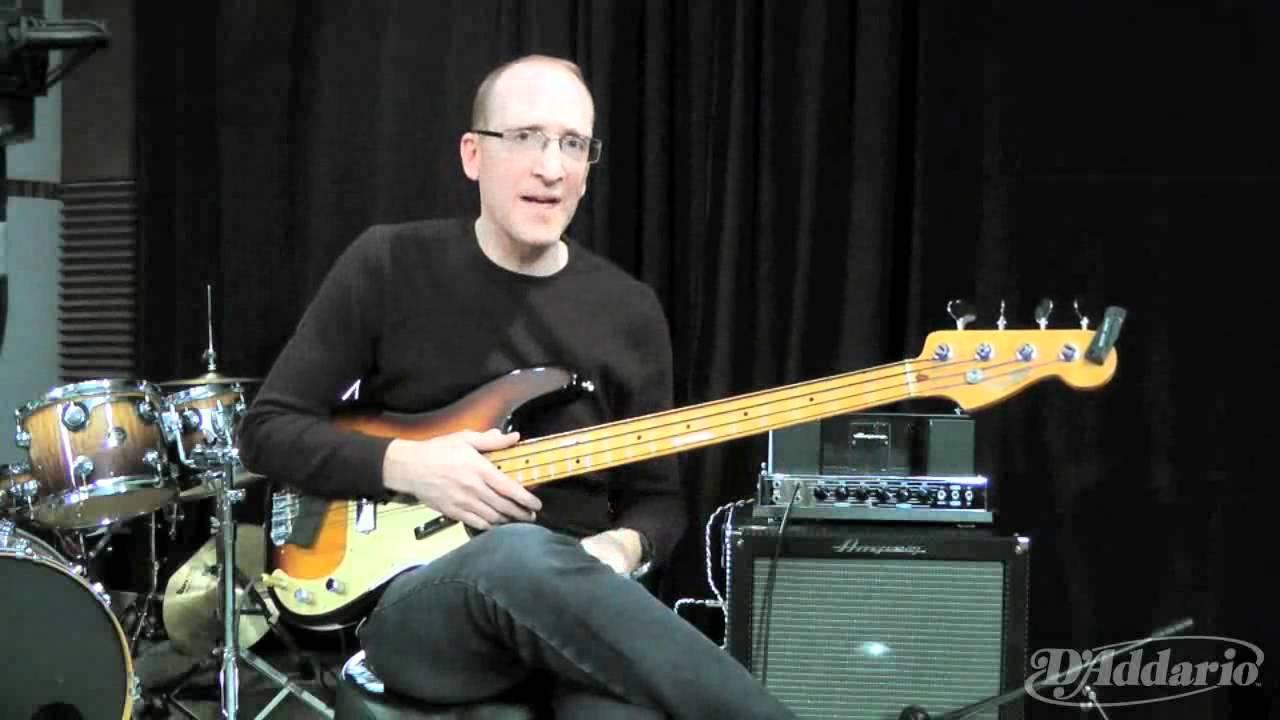 Garth Fielding on XL Nylon Tapewound Bass Strings - YouTube