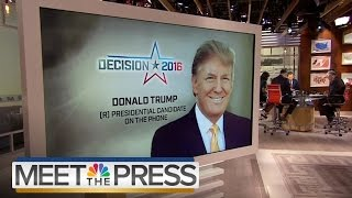 Donald Trump On Fight With Ted Cruz (Full Interview) | Meet The Press | NBC News